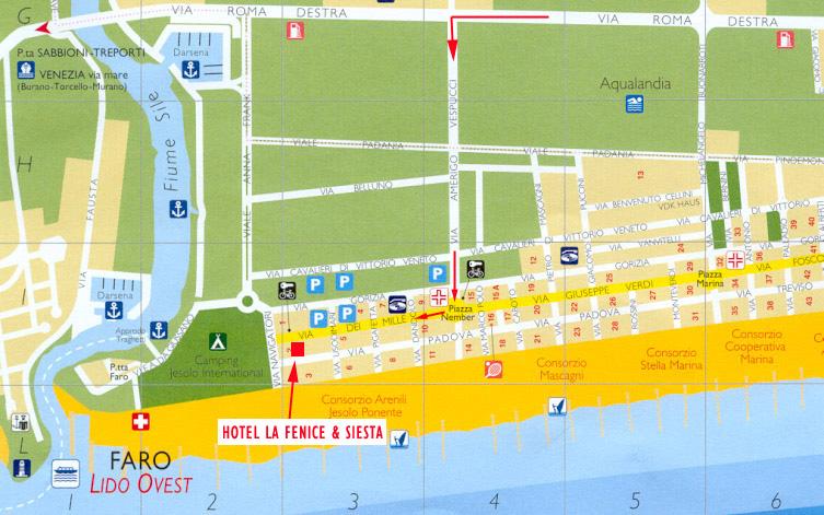 Cartina Jesolo Piazze.Dove Siamo